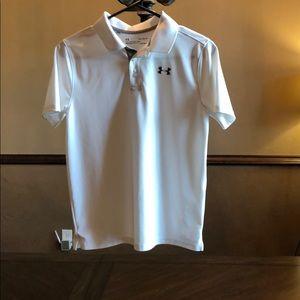 Under Armour athletic shirt sleeve polo boys Large